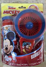 Disney Junior Mickey Mouse Bubble Fan W/ Bubble Solution & Bubble Tray  NIB