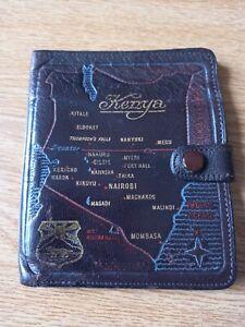 Vintage Mens Brown AVONCLIFF  Leather Wallet - 'Kenya' - well used