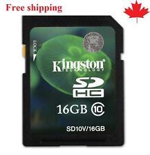 Kingston SD10V 16GB Flash Memory Card SDHC Class10 forDigital Camera Phone Video