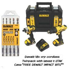 Inalámbrico Dewalt 18V Xrp Twinpack Kit Completo En Estuche T Stak