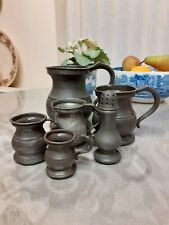 Collection Of Old Pewter.