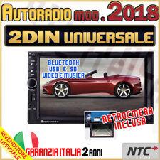 "AUTORADIO Stereo Touch 2 Din 7"" Universale MP3 DVR SD BLUETOOTH AUX +RETROCAMERA"