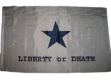 3x5 Goliad Liberty or Death Texas Battle Flag Star Flag 3'x5' Banner grommets