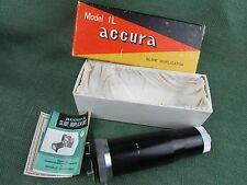 Vintage Accura Slide Duplicator Model IL for Leica Box & Instructions
