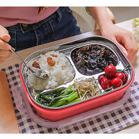 Children Stainless Steel Thermal Bento Lunch Box Food Storage Container SH