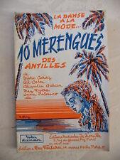Partition 10 Menregues des Antilles Violon Accordéon