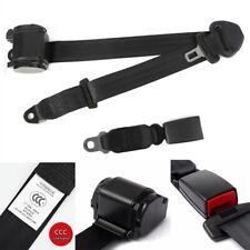 3 Point Adjustable Seat Safety Belt Harness Kit Seat Lap Belt Universal Black