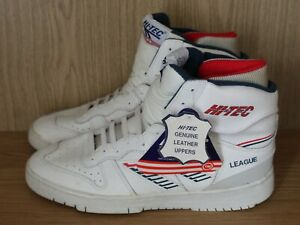 H-Tec League Ankle Boot Trainers, White Leather Mens UK 12 UE 46 Vintage - Tags