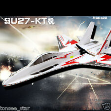 KT SU27 Airplane/Jet+6CH RC Fighter Foam Glider Kits With LED Outdoor Flugzeuge