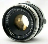 Olympus F.Zuiko Auto-S 1:1.8 38mm lens *As Is* #AB15f