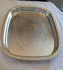 "Silver plate TOWLE 3621 Tray 18""×14"""