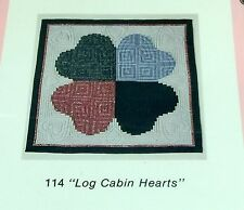 "LOG CABIN HEARTS Oregon Treasures Quilt Wallhanging Pattern 38"" Square Craft See"