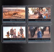 Game of Thrones Season 3 P1,P2,P3 and P4 promo cards