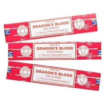 3 PACKS SATYA DRAGON'S BLOOD INCENSE STICKS WITH EACH 15G PACK