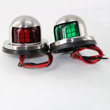 Marine Yacht boat Light Stainless Steel 12V Red Green Bow Navigation LED Lights
