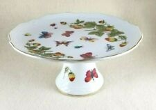 Lenwile Ardalt Small / Mini Pedestal Cake Plate Tray Strawberries Butterflies 7""