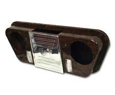 Madjax Golf Cart Overhead Radio Stereo Console w/ LED Lights | Wood Grain