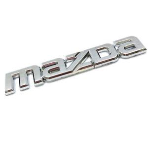Chrome Car Badge For Maz da Tailgate Boot Rear Door Wing 145x25mm