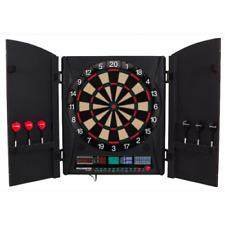 Bullshooter Electronic Soft Tip Dart Board Set Game Black Cabinet Display