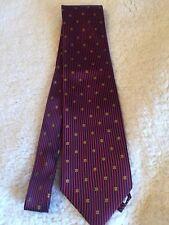 PIERRE PACHA ITALY 100% SILK Men's Neck Tie RED NAVY YELLOW VERY NICE