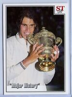 RAFAEL NADAL 2008 WIMBLEDON CHAMPION SPOTLIGHT TRIBUTE VS FEDERER TENNIS CARD!