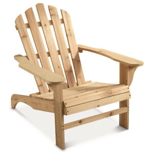 CASTLECREEK Oversized Outdoor Patio and Lawn Wooden Adirondack Chair, Unfinished
