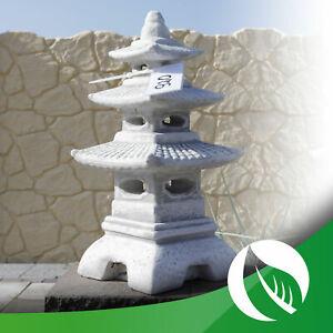 Japanische Steinlaterne Pagode Stupa für Feng Shui Gartendekoration Figur H-46cm