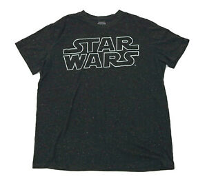 EUC Star Wars Black T Shirt with Stars Background Mens 2X