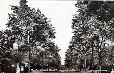 West Bridgford Musters Road Nottingham unused sepia RP old postcard Peveril