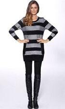 Crewneck Regular Size Striped Women's Jumpers & Cardigans