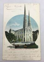 Antique Postcard NYC - St. Patrick's Cathedral, New York  /AS IS Posted 1905