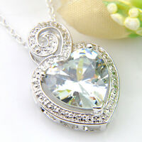 20.5 Cts Wedding Jewelry Natural White Fire Topaz Gems Silver Necklace Pendants
