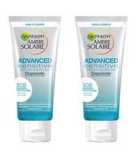 2pz GARNIER AMBRE SOLAIRE ADVANCED SENSITIVE Doposole 200ml viso e corpo NUOVO