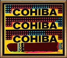 Steve KAUFMAN Original Oil Painting On Canvas Cohiba Cigars Signed Artwork Rare