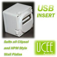 USB Insert - Custom - suit Clipsal & HPM