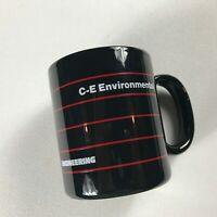 Combustion Engineering Coffee Mug VTG Cup C-E Environmental Black White Red Gift