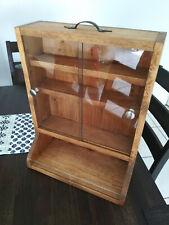 Hanging/Portable Medicine Cabinet. Wood Finish.