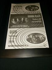 Queen/The Scream/Havana Black Rare Original Radio Promo Poster Ad Framed
