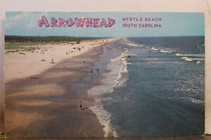 South Carolina SC Myrtle Beach Arrowhead Postcard Old Vintage Card View Standard