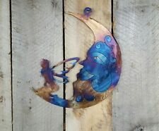 Moon With Fairy Metal Wall Art Hanging Home Decor Rustic Primitive Fairytale