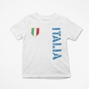 T-Shirt Simpatica Bambino Europei 2021 Maglia Maglietta Bimbo Stampata Italia