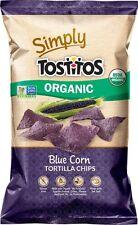 Tostitos Simply Organic Corn Tortilla Chips, Blue, 8.25 Ounce (1 Bag)