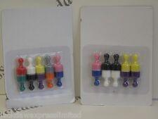 10 Neodym Stark Mehrfarbige Ninepin-kegel-magnete 12mm Durchm. 20mm Hoch