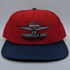 vtg DELONG Indianapolis Formula 1 Grand Prix Racing Hat Snapback Cap M/L Red