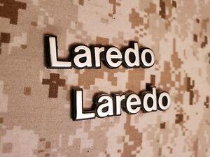 1985-1992 AMC jeep Commache Laredo left and right fender emblems oem