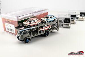 """BREKINA 58478/B - H0 1:87 - Camion Fiat 642 Bisarca """"Autotrasporti FIAT"""" + 3 FIA"""