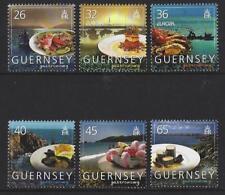 Guernesey 2005 Gastronomy, EUROPA LOT DE 5 monté excellent état
