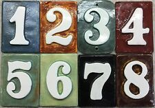 Address number tiles - weatherproof design - outdoor -  Applewood Pottery store