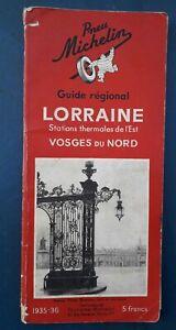 Guide Régional  Michelin Lorraine Vosges du nord 1935