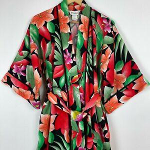 Vintage Neiman Marcus Diamond Tea T-Petite Floral Robe Kimono Canada Union Label